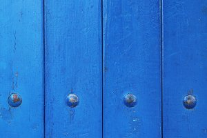 Blue paint wood planks texture.