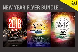 SALE% New Year Flyer Bundle