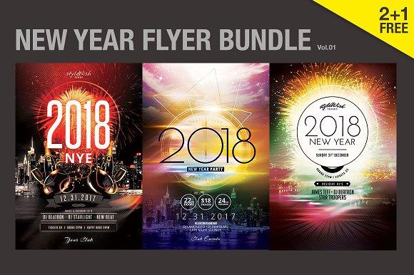 SALE% New Year Flyer Bundle