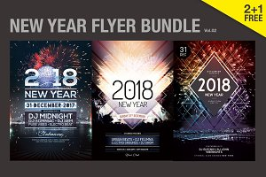 SALE - New Year Flyer Bundle Vol.02