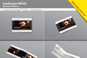 Landscape Bifold Brochure Mock-Up