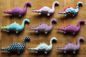 Dinosaur handmade doll
