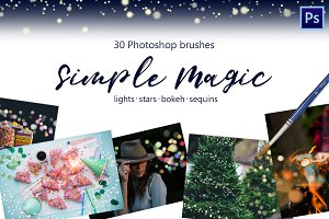 Magic brushes -lights, bokeh, tinsel