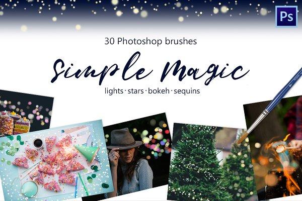 Magic brushes -lights, bokeh, tinse…