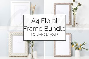 A4 Natural Frame Mockup Bundle