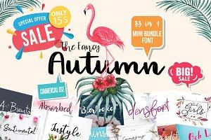 33 The Fancy Autumn Bundle Font