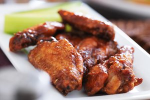 BBQ Buffalo chicken wings