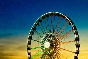 Ferris Wheel on Sun Set