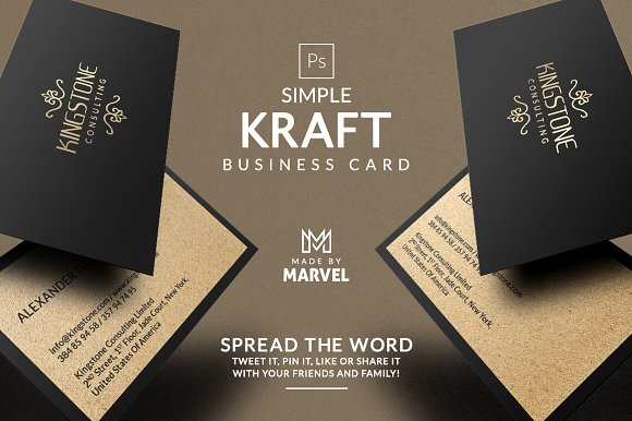 simple kraft business card business cards - Kraft Business Cards
