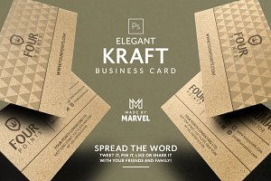 Elegant Kraft Business Card