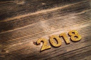 2018 of gold glitter