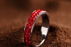 Red jewellery ring