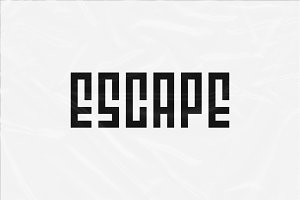 Escape Typeface