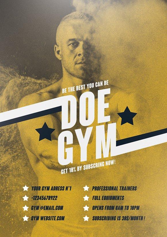 vintage gym poster design template