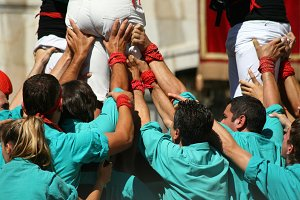 Human towers, castellers