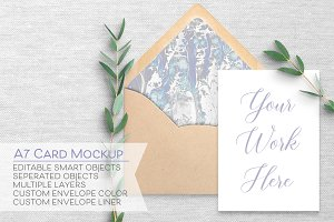 5x7 Card & Envelope Mockup - A7