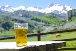 Beer in the mountain