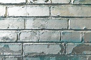 Painted Silver Bricks Wall