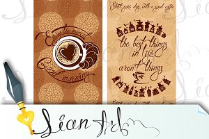 Menu design for coffeehouse