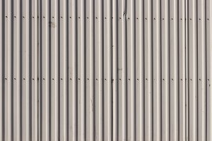 Bare Corrugated Steel Fence Texture