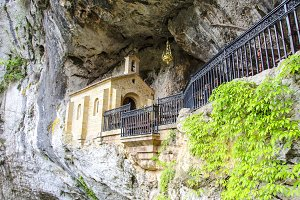 Holy cave of Covadonga
