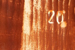 Rust Painted Wall Texture. Number 20