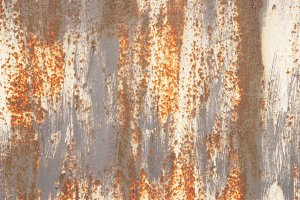 Rust White Gray Painted Wall