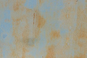 Rusty Blue Painted Wall Texture