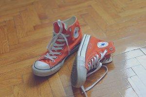 Orange sneakers 2