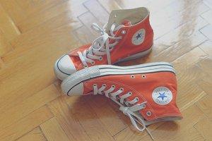 Orange sneakers 4