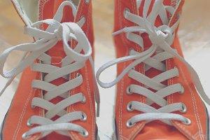 Orange sneakers 3