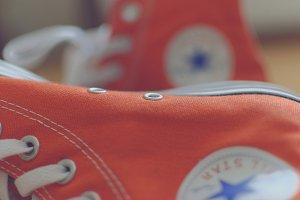 Orange sneakers 5