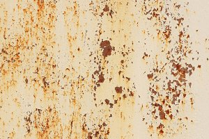 Old Rust on White Paint Wall Texture