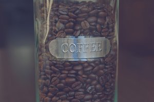 Coffee in a glass container 1