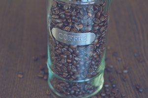 Coffee in a glass container 3