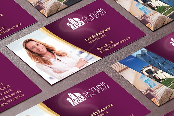 Real estate business card template business card templates real estate business card template business card templates creative market fbccfo Choice Image