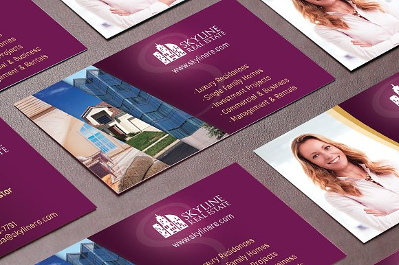Real estate business card template business card templates real estate business card template business card templates creative market flashek Image collections