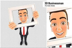 3D Businessman Picture Frame