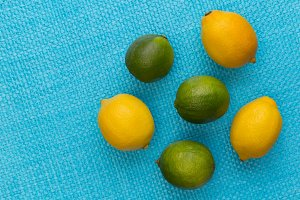 Lemon and lime fruits