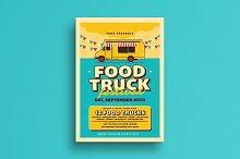 Retro Food Truck Event Flyer