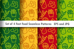 Fast Food Seamless Patterns