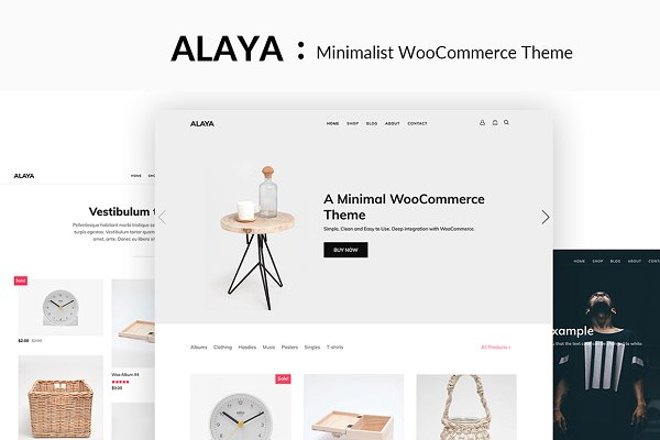 WordPress eCommerce Themes: ThemeVan - Alaya - A Minimalist Shop Theme