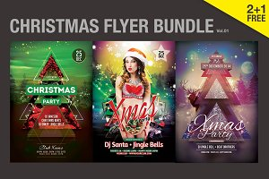SALE% Christmas Flyer Bundle