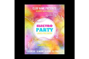 Watercolor party poster