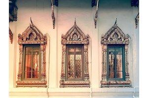Window background in Royal King Palace, Bangkok