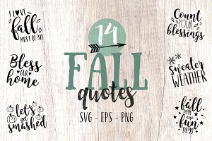 Fall quote svg bundle