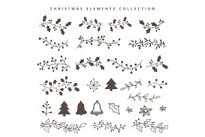 Christmas hand draw elements