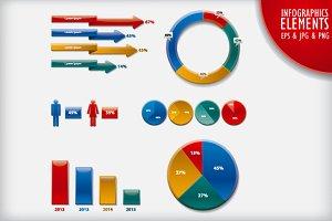 Infographics Charts Elements