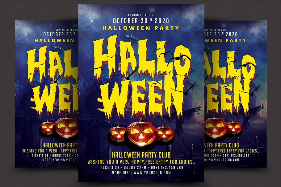 Halloween Party Flyer Flyer Templates Creative Market Pro