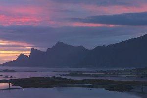 Panoramic view at Norwegian Lofoten